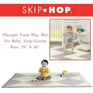 NEW Skip Hop Playspot Foam Play Mat For Baby, Grey/Cream, 70 X 56 Condtion: New, Grey/Cream, Foam Tiles, Missing 5 ...