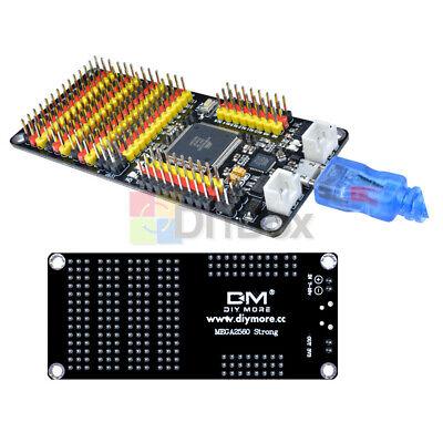 Atmega2560 Atmega16u2 Microcontroller Development Board W Cable For Arduino R3