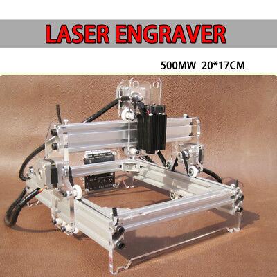 3 Axis Usb Cnc Laser Engraver Marking Machine Wood Cutter 20x17cm Diy Kit 220v