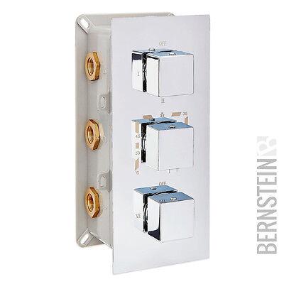 Edle Thermostat-Unterputz-Duscharmatur UP11-02 mit 3 Wege-Umsteller