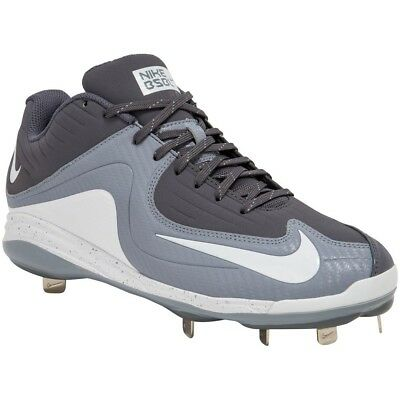 brand new c557c 2772b Nike Men s Air MVP Pro Metal II Baseball Cleats Gray White Size 10.5