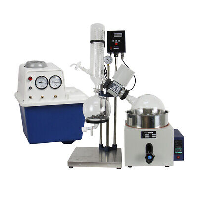 5l Rotary Evaporator Manual Lifting Kit W Water Vacuum Pump