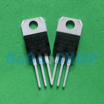 5pairs Tip142t Tip147t New Npn Pnp Darlington Transistors To-220