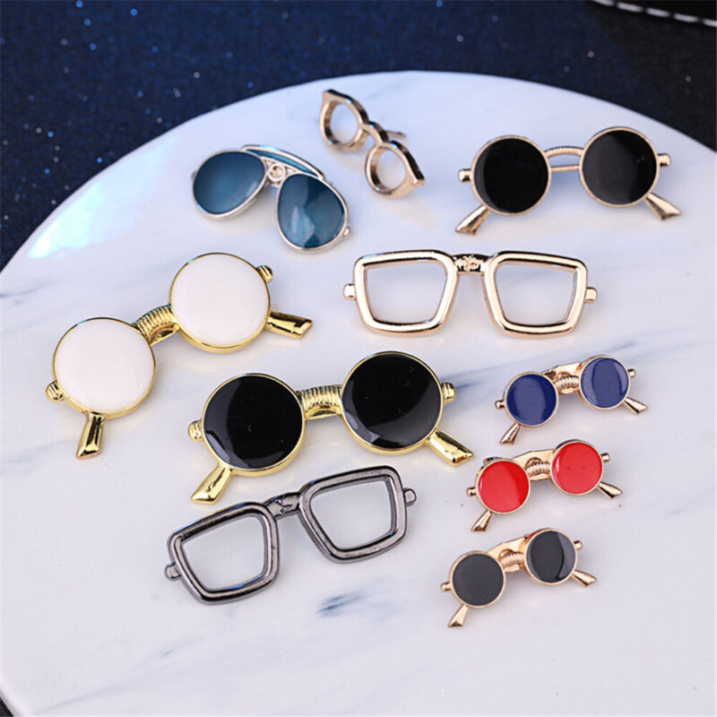 Jewelry Clothes Lapel Pin Dripping Oil Sunglasses Enamel