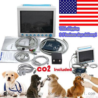 Cms8000 Co2 Veterinary Patient Monitor Capnograph Vital Signs 7 Parameter Etco2