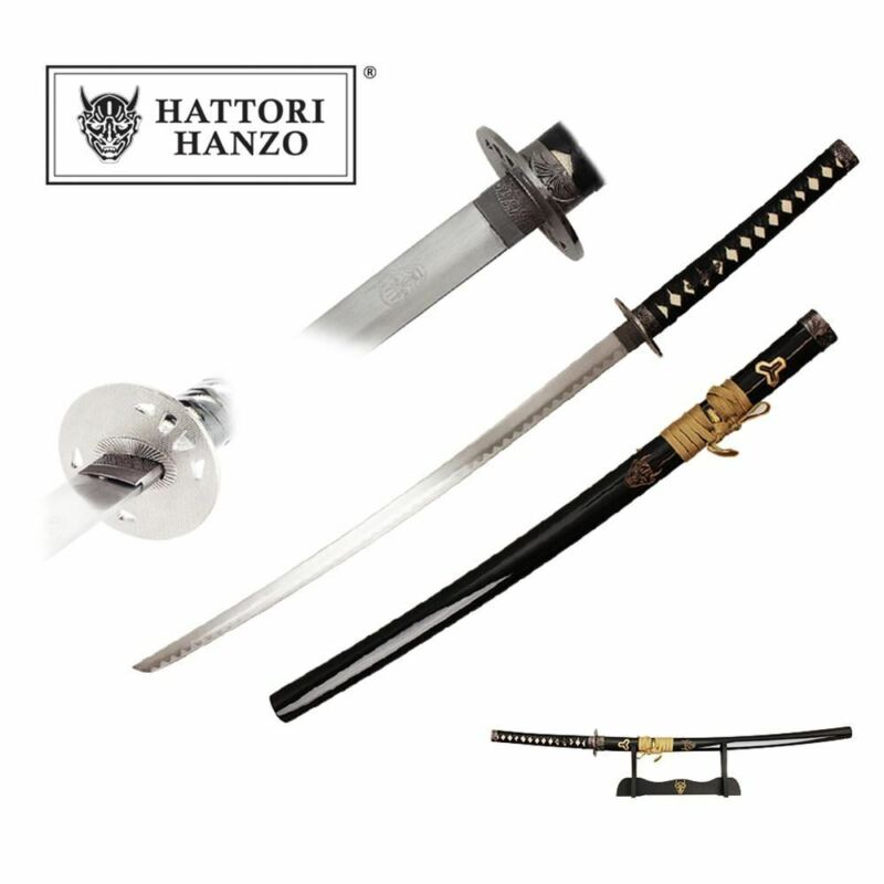 "40"" Kill Bill DEMON HATTORI HANZO SAMURAI SWORD ENGRAVED SCABBARD"