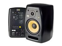 KRK VXT8 Active Powered Monitor Speakers - PAIR with accessories