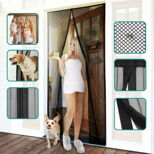 Heavy Duty magic Magnetic Screen Door Mesh Curtain Mosquito