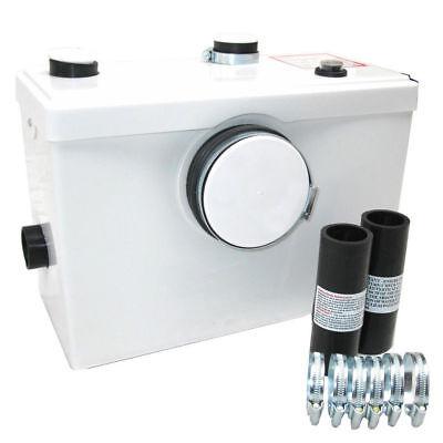 Macerator Waste Pump 3 Inlets Toilet Shower Bath Sink WC Sanitary Pump 600W