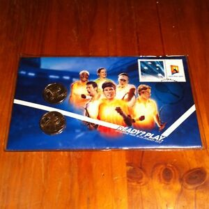 2012 PNC Australian Open Tennis Grand Slam Dual $1 Coin - Stamp & Coin Cover