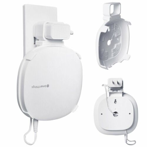 Outlet Wall Mount Holder for Samsung Smartthings Hub 3rd Cord Arrangement