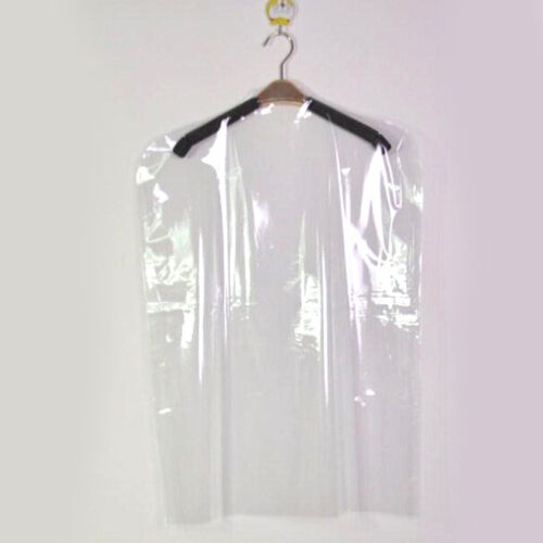 5x plastic clear dust proof cloth cover suit dress garment for Clear plastic dress shirt bags