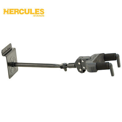 NEW Hercules GSP40SB Auto Grip System Guitar Hanger, Slat Wall Mount, Long