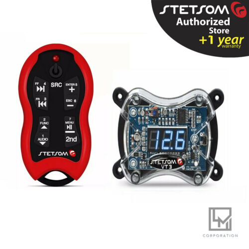Stetsom VT 3 Voltmeter Digital + Stetsom SX2 Red Control Remote Car Audio