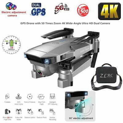 SG907 GPS With 4K HD Dual Camera 5G Wifi FPV Drone RC Quadcopter Follow Me+Bag