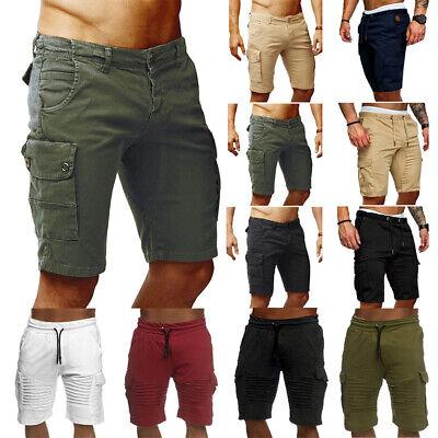 Nuovo Da Uomo Casual Jogger Pantaloncini Sportivi Pantaloni Cargo Militare