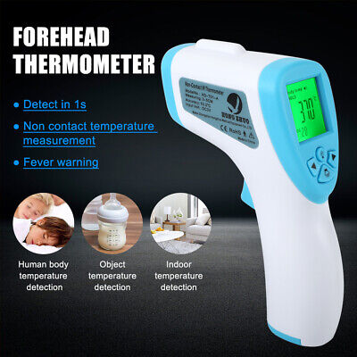 Medical Non-contact Infrared Thermometer Gun Lcd Digital Forehead Fever Adult Us