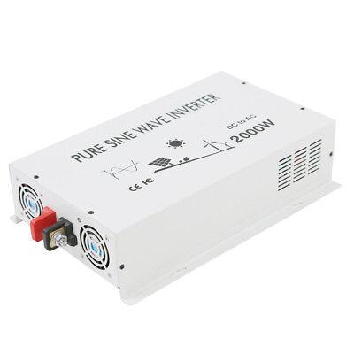 Power Inverter Pure Sine Wave 2000 Watt 12/24/36/48V to 120V/220V Solar Home RV