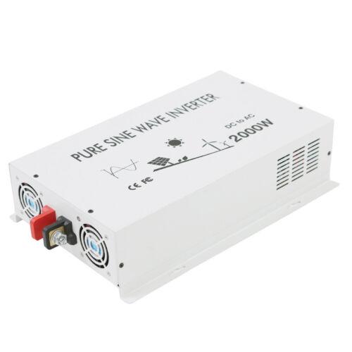 Power Inverter Pure Sine Wave 2000 Watt Solar 12/24/36/48V to 120V/220V Generat