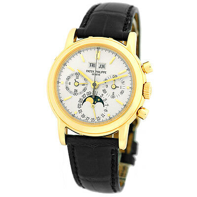 $89990.00 - PATEK PHILIPPE 18K Yellow Gold Perpetual Calendar Chronograph 3970 Warranty BOX