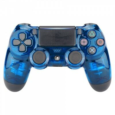 Transparent Blue Faceplate Front Housing Shell For PS4 Slim Pro Game Controller ()