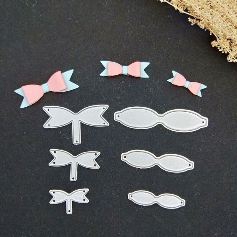 6 x Bowknot Bow Metal Cutting Dies Stencils Scrapbooking Card Embossing Craft