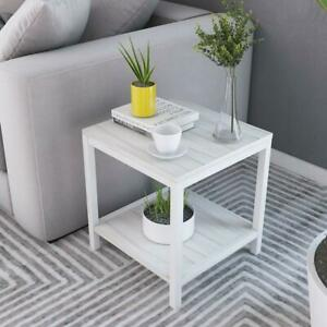 NEW Soges End Tables 15.7 Coffee Table Modern Style Coffee Table Console Table 2 Tiers, TVST-40-MP-N-CA Condtion: Ne...