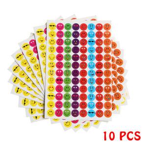 960 School Children Smiley Face Reward Stickers Teacher Aid Training Chart new