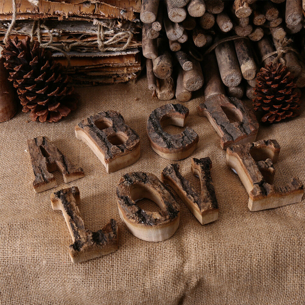 Retro 26 Wooden Wood Alphabet Letters//Wall Hanging Wedding Party Bar Decor DIY