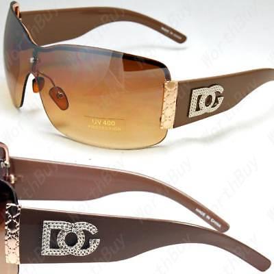 New DG Eyewear Shield Womens Designer Sunglasses Shades One Lens Wrap Fashion