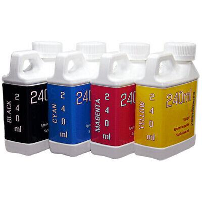 Dye Sublimation Ink 4-240ml Bottles For Epson Wf-2830 Wf-2850 Wf-2860 Printers