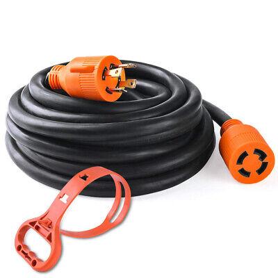 30amp Generator Extension Power Cord 4 Pin 125 250v Nema L14-30p To L14-30r