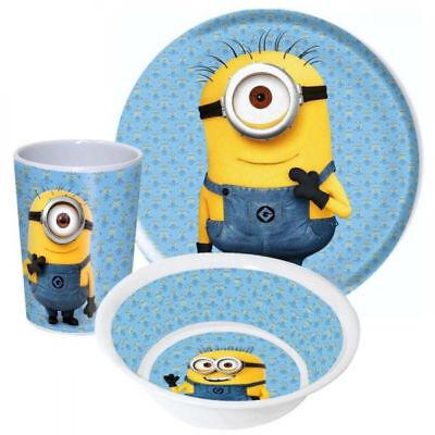 Kinder Frühstücksset Minions Melamin Kindergeschirr Disney Geschenkidee