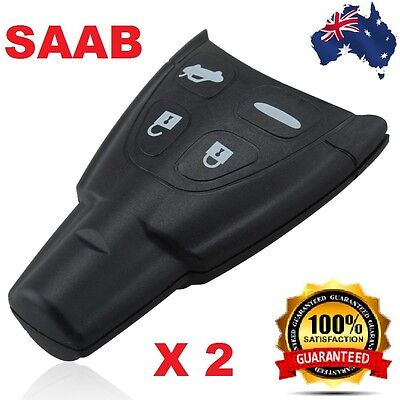 2  x SAAB 93 95 9-3 9-5 REMOTE KEY FOB REPLACEMENT case shell