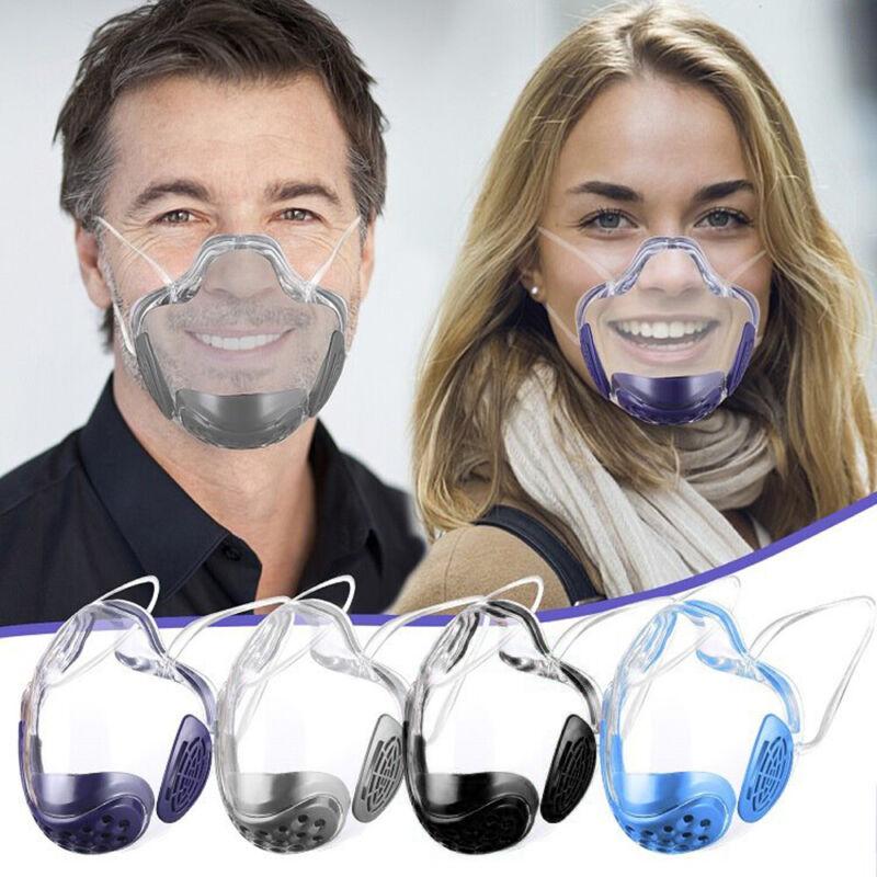 Durable Anti-Fog Mask Face Shield Plastic Reusable Clear Transparent Protection