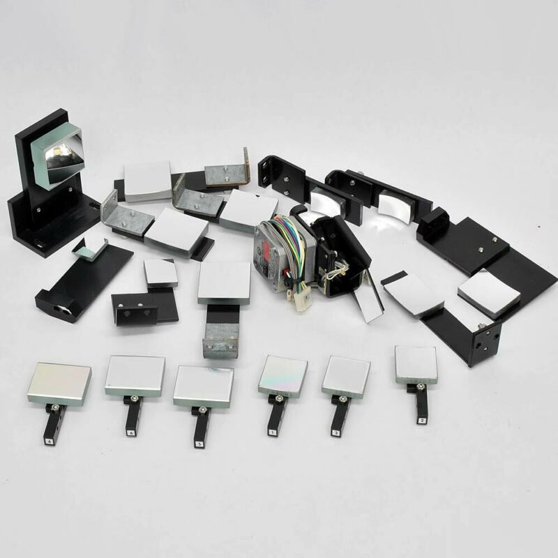 18 pcs.Lot: Diffraction Gratings, Mirrors from UV-3100 Spectrophotometer VIS NIR