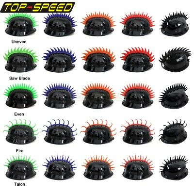 Motorcycle Helmets Headwear Atv Helmet Mohawk Rubber Mohawks Mx Dirt Bikes New