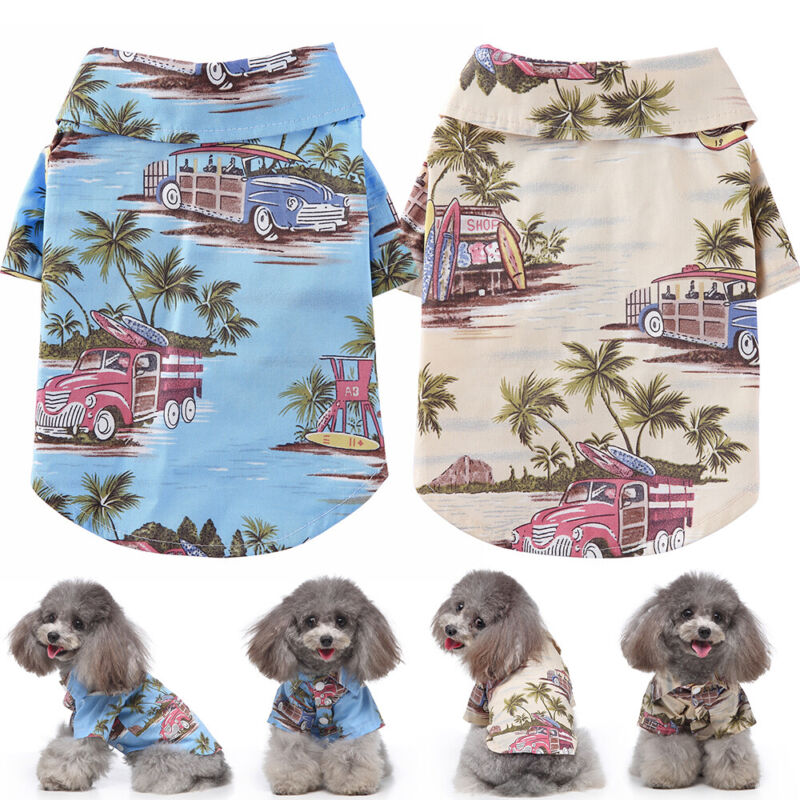 Summer Dog Clothes Beach Ocean Style Shirt For Puppy Cats Vest Chihuahua Apparel