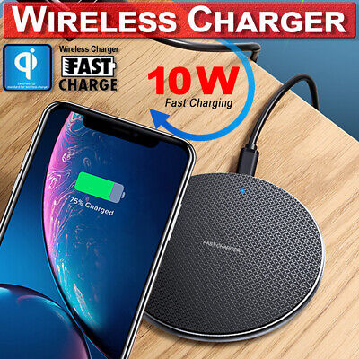 Qi Wireless Charger Dock Fast Charging Pad Mat For iPhone X 8 plus Samsung S9 S8