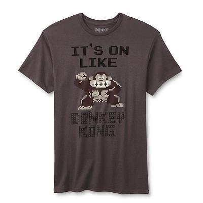 Nintendo It's On Like Donkey Kong Charcoal Men's T-Shirt New Its On Like Donkey Kong T-shirt
