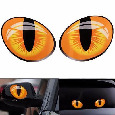 1 Para Reflektierende Lustige Katze Augen 3D auto Aufkleber