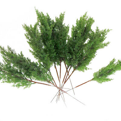 10Pcs Flor Artificiales Falso Plantas Pino Ramas Navidad Árbol Decoración Hogar