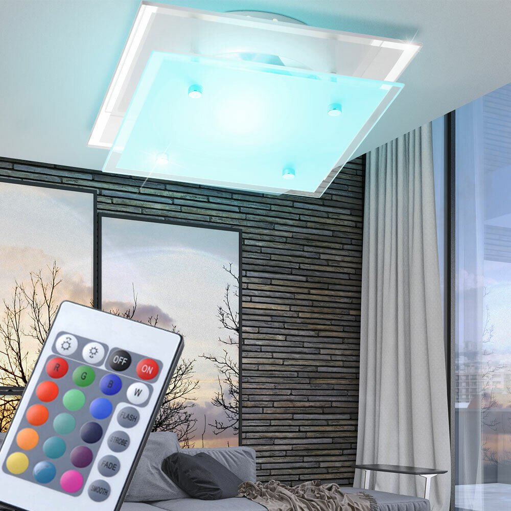 RGB LED Farbwechsel Decken Leuchte Wohn Ess Schlaf Zimmer Flur Lampe Beleuchtung