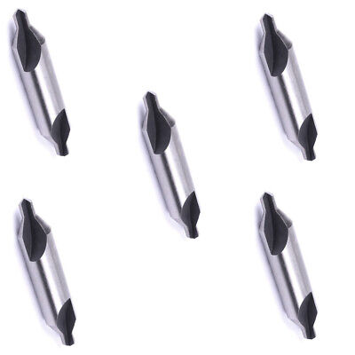 5 Pieces Hs Steel Combined Center Drills Bit Set Countersinks 60 Degree Angle