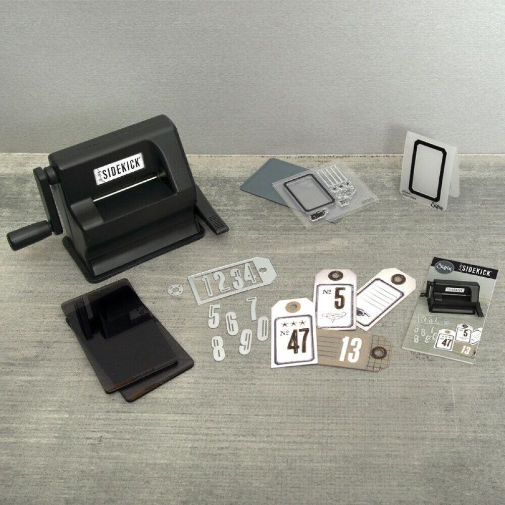Sizzix Sidekick Starter Kit (Black) Stanz und Prägemaschine Tim Holtz BRANDNEU
