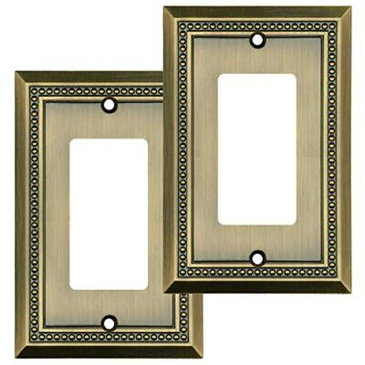 Sunken Pearls Decorative Wall Plate Switch Outlet Cover (Single Decorator, 2PK,