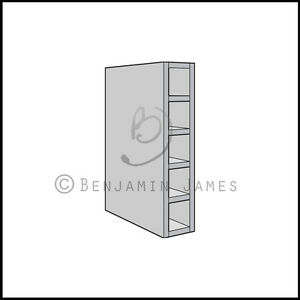 Kitchen carcass unit wall wine rack cabinet 900mm high for Kitchen cabinets 900mm high