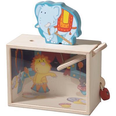 Haba 301208 - Spardose Elefant Buche Sperrholz Acrylglas Kinder 14x18,5x7cm
