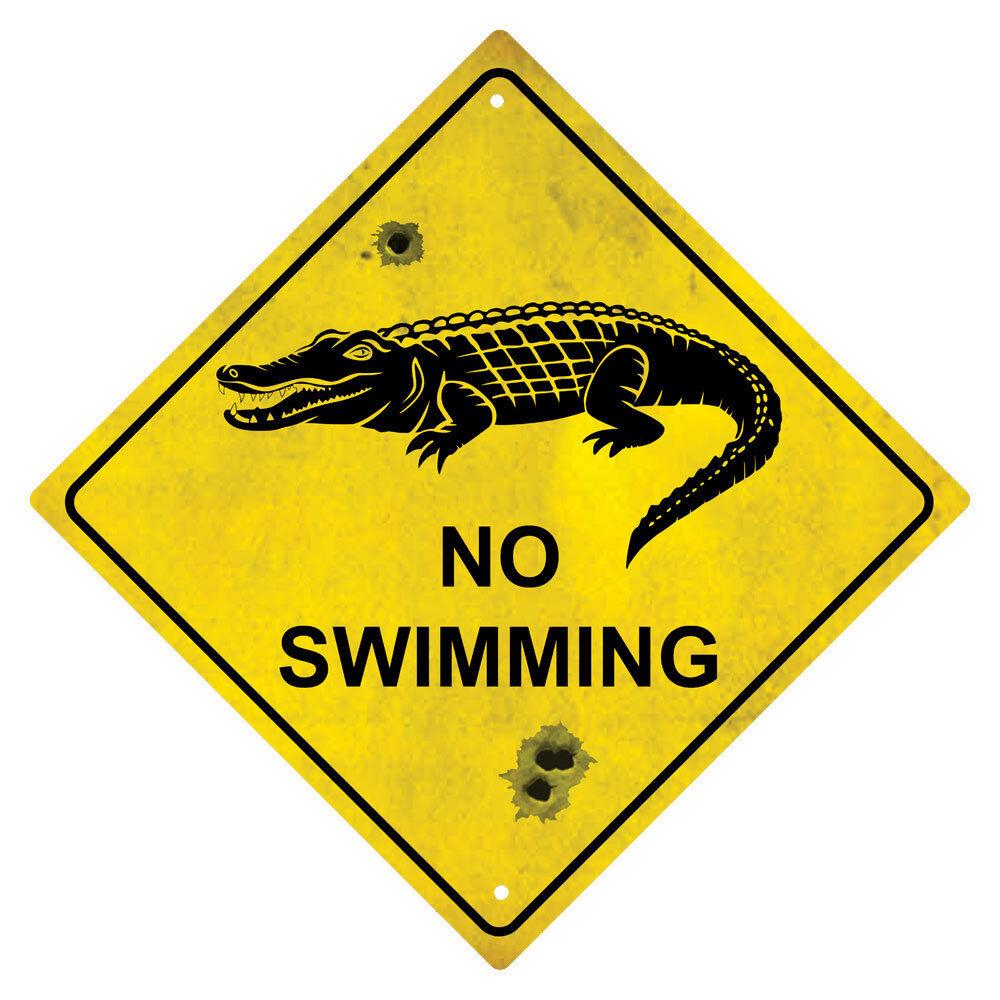 Crocodile No Swimming Souvenir Australian Road Sign Ebay