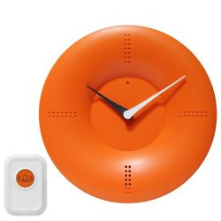 Doorbell Chime Ring Bell Clock Wall Table Top Smart Remote Wireless Orange